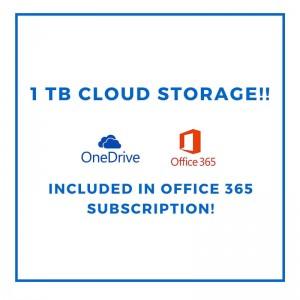 microsoft onedrive 1TB cloud storage