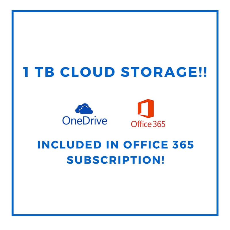 Microsoft Onedrive 1tb Included In Office 365 Subscription What I Learned 2 15 16